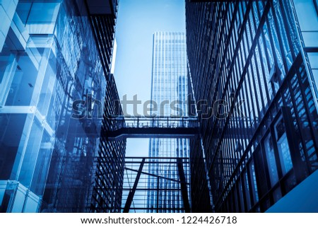 Modern office building close-up shot in shenzhen, China #1224426718