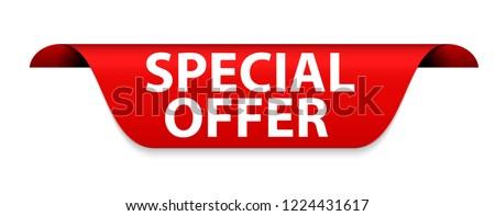 Special Offer Red Label Vector Illustration EPS10 #1224431617