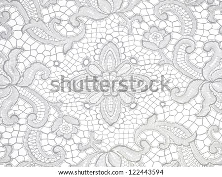 lace floral Pattern on white background #122443594