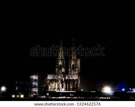 Cologne Cathedra at night, Kölner Dom bei Nacht #1224622576