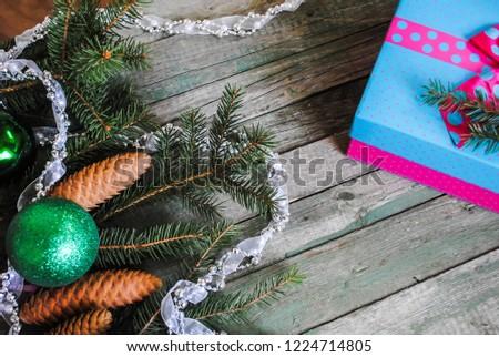Christmas gift and Christmas decorations #1224714805