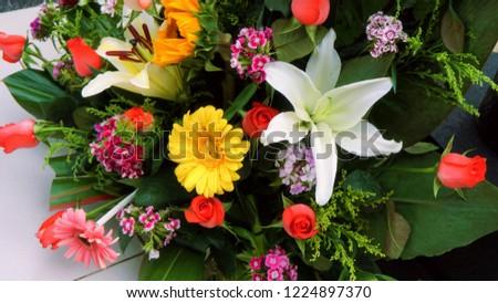 Colorful floral arrangement #1224897370