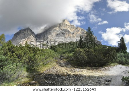 Panoramic view of mount Pelmo (Italy, Belluno) from est #1225152643
