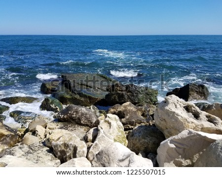Amazing nature ,rocks and a nice summer day in Black Sea at resort Cabacum  near Varna (Bulgaria) #1225507015