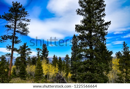 A view of the Colorado Rockies from Pole Hill Road near Estes Park, CO #1225566664