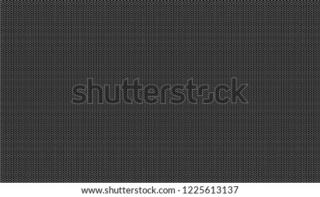 White honeycomb on a black background. Seamless texture. Isometric geometry. 3D illustration #1225613137