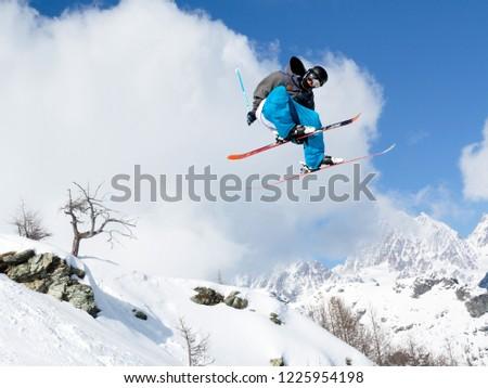 ski style aerial  #1225954198
