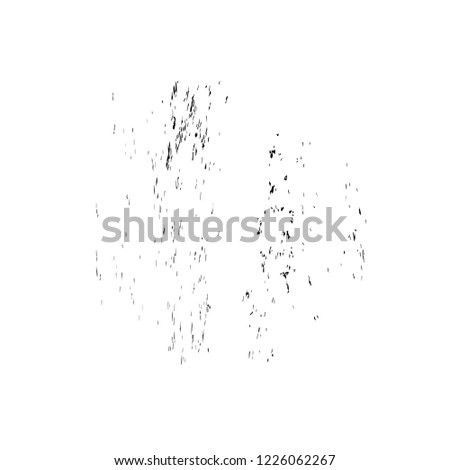 Black And White Distressed Grunge Brush Stroke Template. Black Paint Vector Texture. Dirty Creative Design Overlay Elements #1226062267