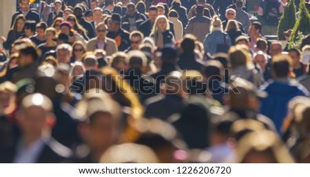 NEW YORK - CIRCA NOVEMBER 2018: Crowd of people walking street #1226206720