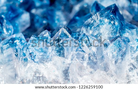 Blue Crystal Mineral Stone #1226259100