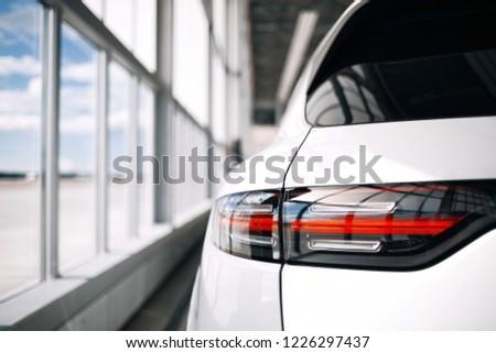 Modern luxury suv rear taillight #1226297437