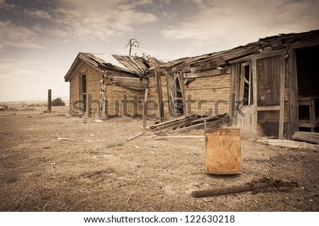 House ghost town Royalty-Free Stock Photo #122630218