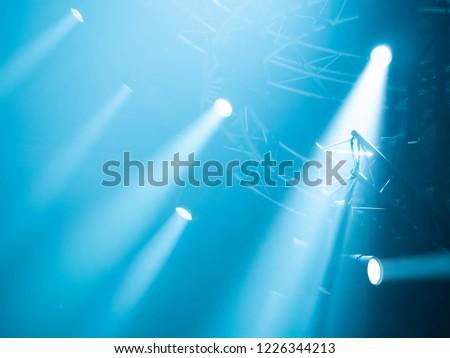 Lighting equipment. Light for concerts. Searchlights for show lighting. Concert equipment. Lighting equipment on the scene. #1226344213