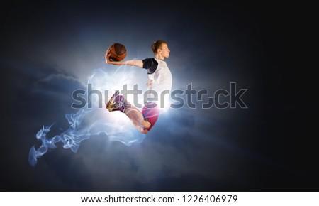 Basketball Player on Fire #1226406979