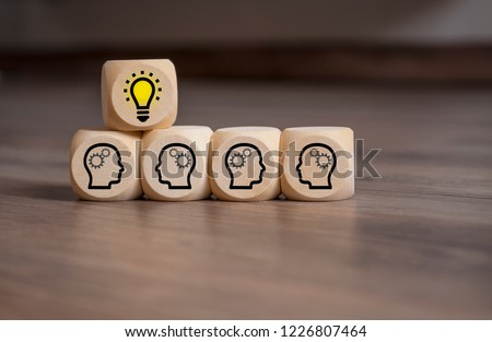 Dices with Teamwork Idea Business #1226807464