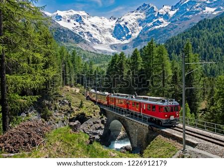 Bernina Express - Switzerland Royalty-Free Stock Photo #1226912179