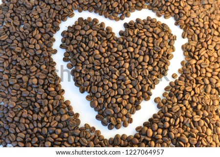 coffee grains on white background #1227064957