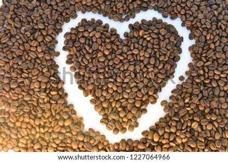 coffee grains on white background #1227064966