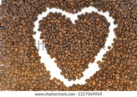 coffee grains on white background #1227064969