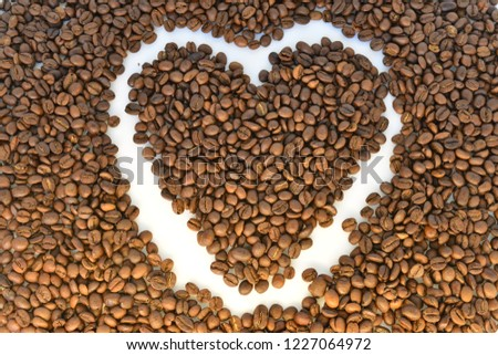 coffee grains on white background #1227064972