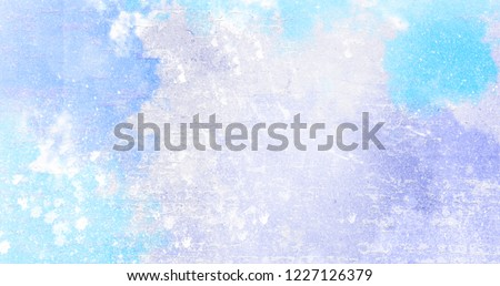Blue textured colorful decoration poster template. Rough empty grunge pattern background. Decorative horizontal illustration. #1227126379