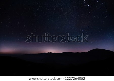Milkyway in nightsky picture spot is Korea, Jiri mountain