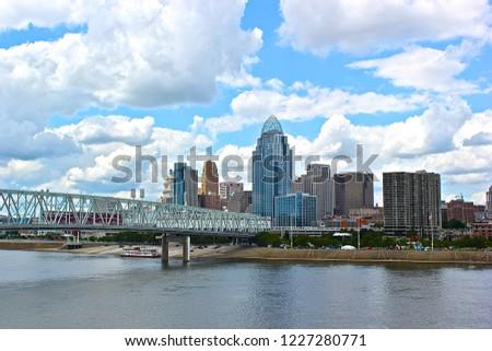 Downtown Cincinnati with the Ohio River