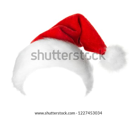 Santa Claus red hat isolated on white background #1227453034