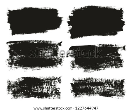 Calligraphy Paint Brush Background High Detail Abstract Vector Background Set 103 #1227644947