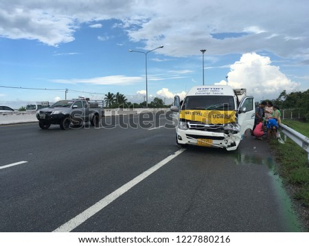 Van accident at Chonburi in Thailand on 6-May-2018 #1227880216