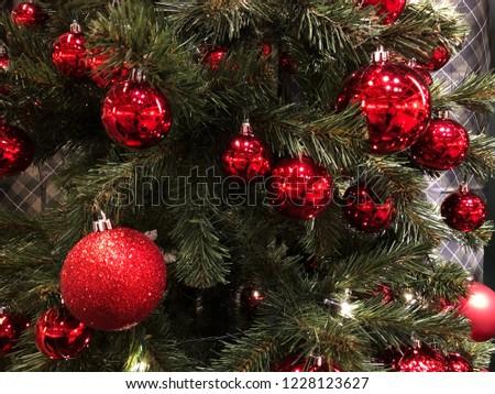 Christmas tree new year celebration