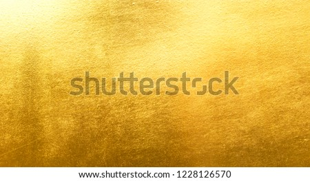 Shiny yellow leaf gold metall texture background #1228126570