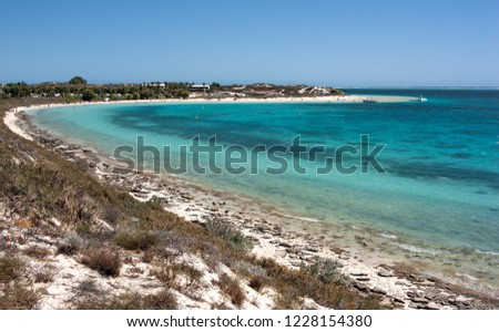 Turquoise water in Coral Bay, Western Australia. #1228154380