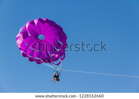 Parachute by boat. #1228162660