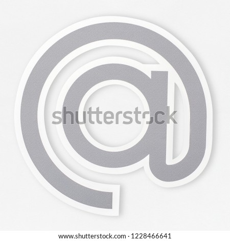 At sign symbol icon isolated #1228466641