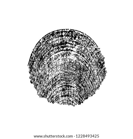 Black And White Distressed Grunge Brush Stroke Template. Black Paint Vector Texture. Dirty Creative Design Overlay Elements #1228493425