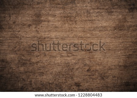 Old grunge dark textured wooden background, The surface of the old brown wood texture, top view brown wood paneling #1228804483