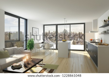 3d renderings living room #1228861048