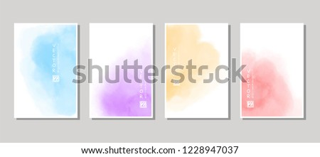 Vector banner abstract paints shapes collection isolated on white background. Hand drawn abstract color paint brush strokes set. Watercolor elements. Royalty-Free Stock Photo #1228947037