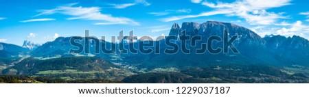 view from overbozen am ritten near bolzano in italy #1229037187