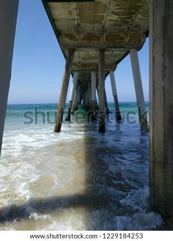 shade under a pier #1229184253