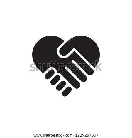 hand palm care love symbol vector Royalty-Free Stock Photo #1229257807