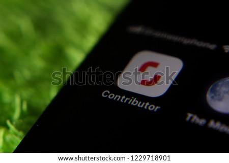 Dhaka, Bangladesh. November 14, 2018. Shutterstock contributor app in iPhone 6 plus. #1229718901