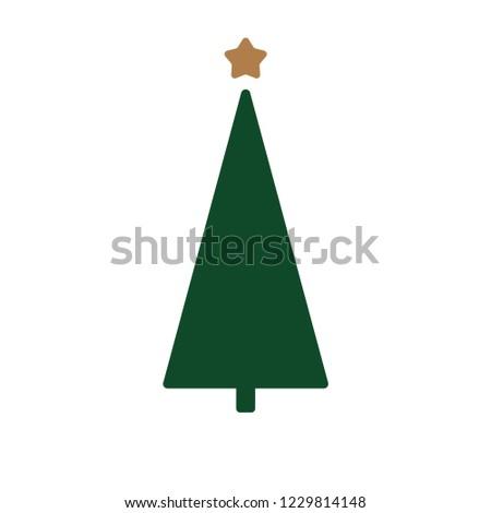 Christmas tree vector illustration #1229814148