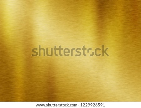 Gold metal texture background or yellow steel plate surface #1229926591