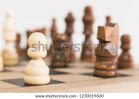 Chess photographed on a chessboard #1230019600