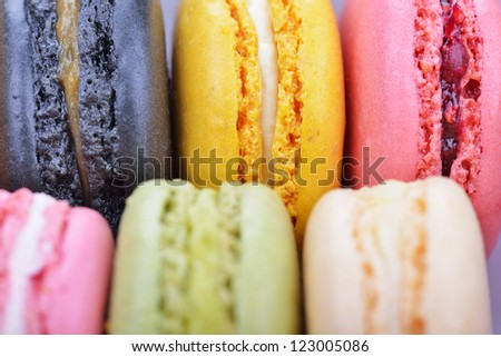 Colorful macaroons close-up #123005086