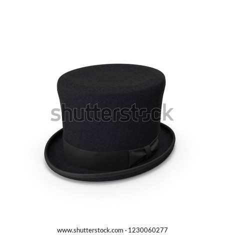 Top hat Isolated. 3D illustration #1230060277