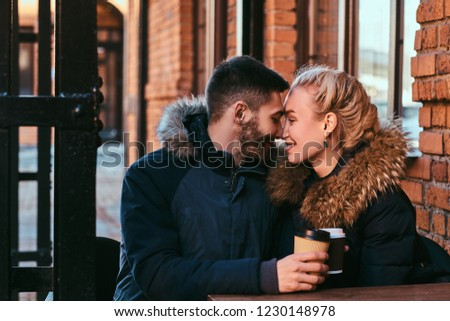 A young happy couple is spending time together. #1230148978