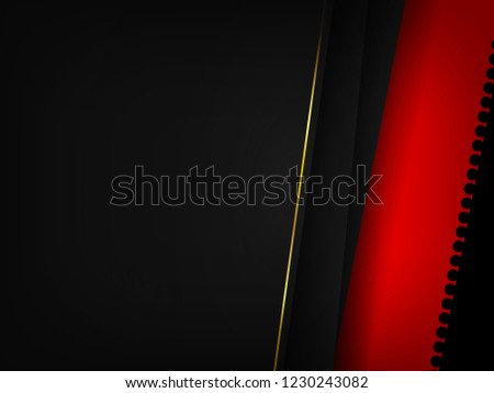 Vector illustration of overlap layout on black papers, abstract background for card template, poster, and invitation. #1230243082